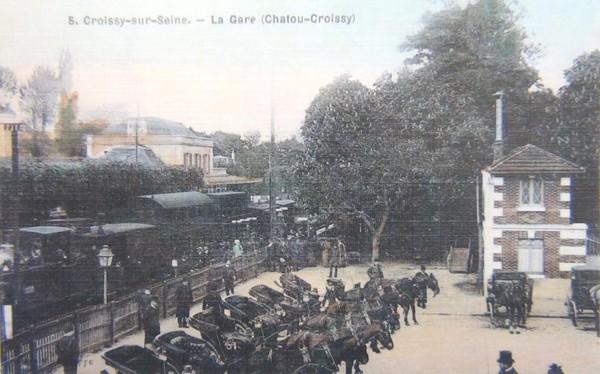 CROISSY SUR SEINE, LA GARE DE CHATOU CROISSY.